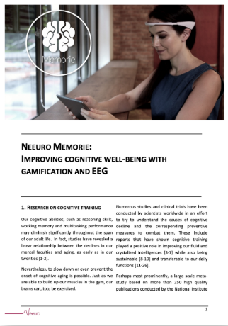 Neeuro Memorie Improving Cognitive Well being with Gamification and EEG